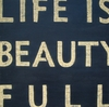 Life is Beauty Full Hand Painted Antique Sign