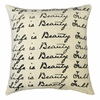 Life is Beauty Full Linen Pillow