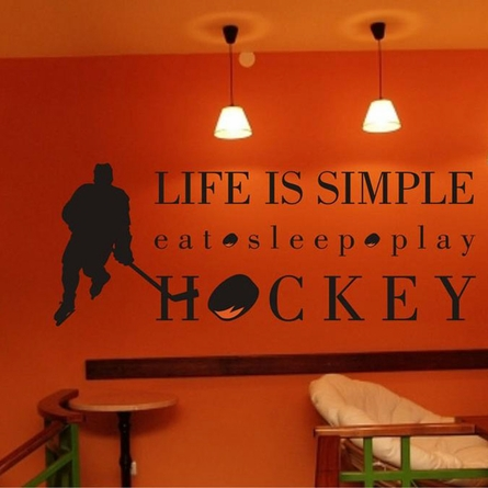 Life is Simple Hockey Wall Decal