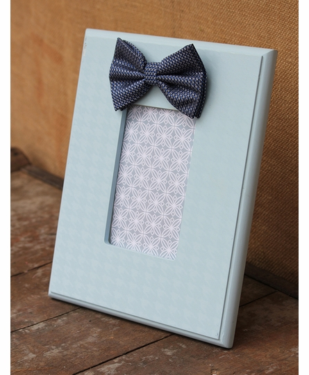 Light Blue Bow Tie Houndstooth Picture Frame