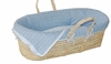 Light Blue Cable Knit Moses Basket Set