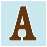 Light Blue with Brown