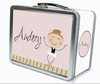 Light Brown Hair Ballerina Personalized Lunch Box