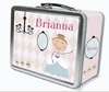 Light Brown Hair Glam Princess Personalized Lunch Box