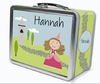 Light Brown Hair Princess Personalized Lunch Box