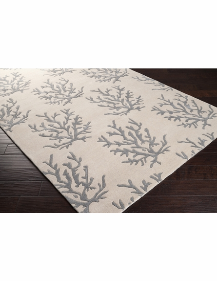 Light Gray Coral Reef Escape Rug I