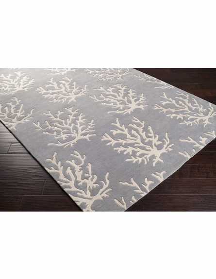 Light Gray Coral Reef Escape Rug II