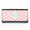 Light Pink Chevron Monogram Wallet