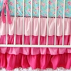 Light Pink Ruffle Crib Skirt