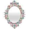 Light Sherbet Owls Baroque Mirror