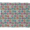 Light Sherbet Owls Fleece Throw Blanket