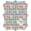 Light Sherbet Owls Quatrefoil Magnet Board