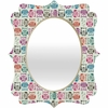Light Sherbet Owls Quatrefoil Mirror