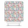 Light Sherbet Owls Shower Curtain