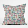 Light Sherbet Owls Throw Pillow