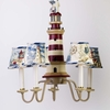 Lighthouse Five Arm Chandelier and Shades