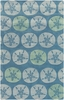 Lighthouse Sand Dollar Rug in Blue
