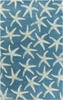 Lighthouse Starfish Rug in Blue