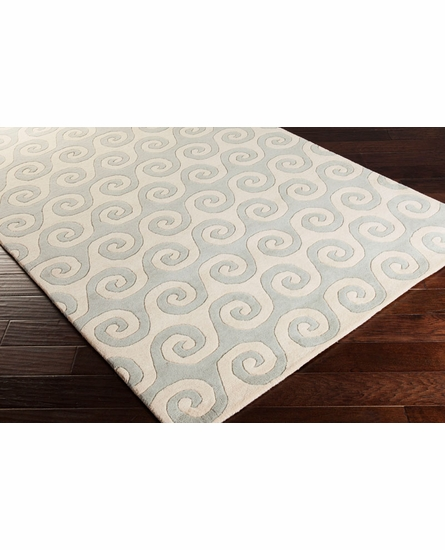 Lighthouse Waves Rug in Ash Gray