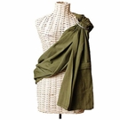 Lightly Padded Baby Sling in Olive Green