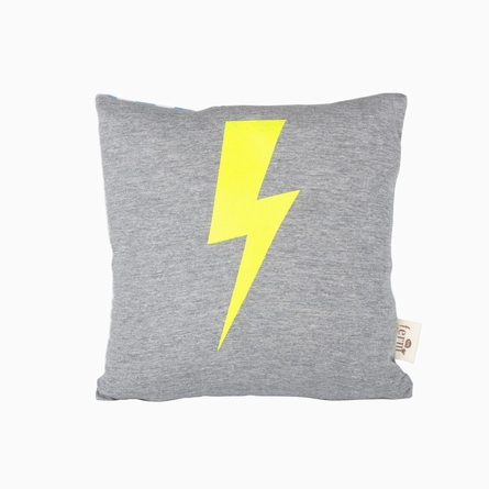 Lightning Organic Cotton Throw Pillow
