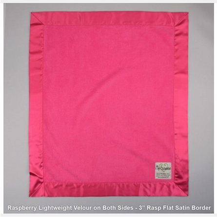 Lightweight Velour Baby Blanket with Satin Trim