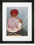 Lil Catcher Boy Framed Art Print