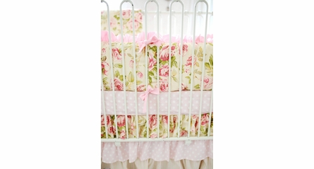 Lil Pink Dottie Crib Sheet