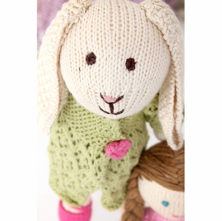 Lila Bunny Hand-Knit Organic Stuffed Toy