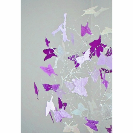 Lilac and Lavender Purple Butterfly Mobile