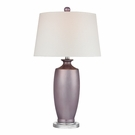 Lilac Ceramic Table Lamp With White Shade