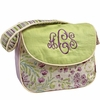 Lilac Garden Messenger Diaper Bag