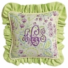 Lilac Garden Throw Pillow - Square