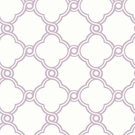 Lilac Open Trellis Wallpaper