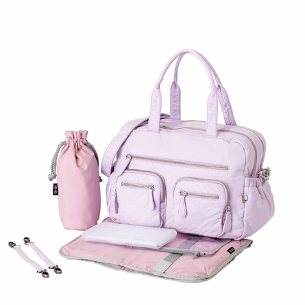 Lilac Orchard Faux Lizard Carry All Diaper Bag