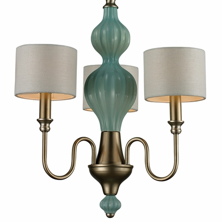 Lilliana Chandelier In Seafoam And Aged Silver