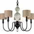 Lilliana Large Chandelier In Cream And Aged Bronze