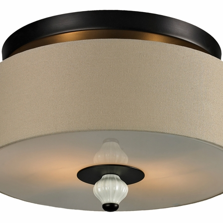 Lilliana Semi Flush In Cream And Aged Bronze