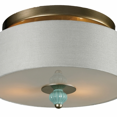 Lilliana Semi Flush In Seafoam And Aged Silver