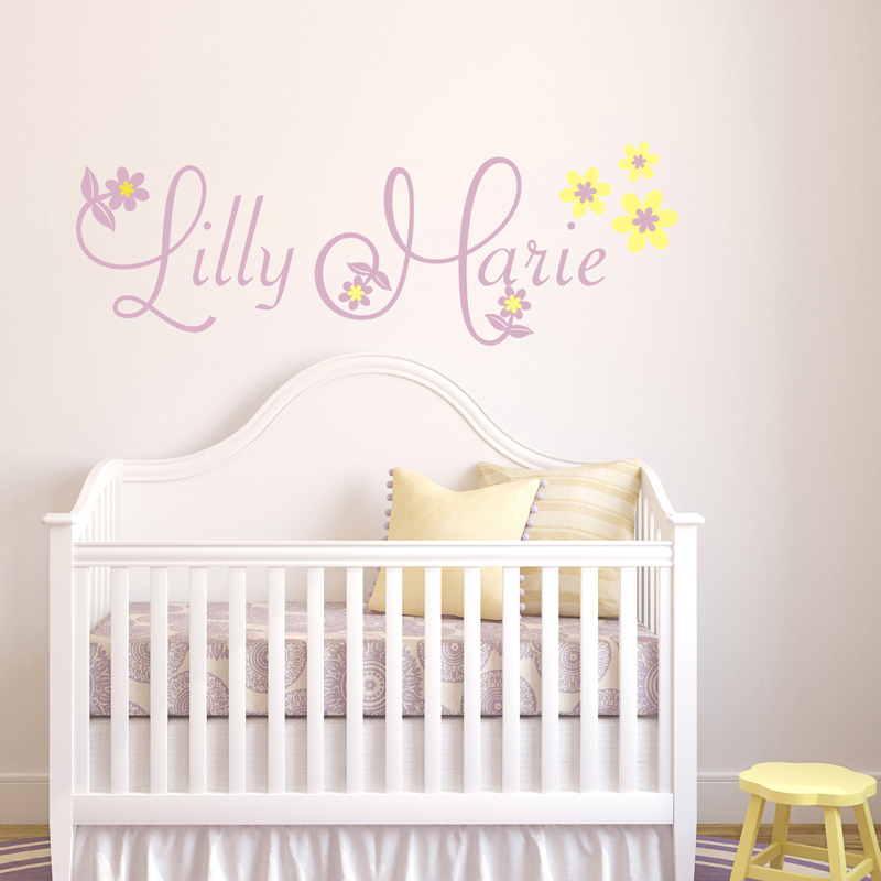 Lilly Floral Wall Decal by Alphabet Garden Designs