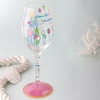 Lilly Pulitzer Pop Hand Painted Wine Glass