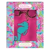 Lilly Pulitzer Seahorse Keychain with USB Flash Drive