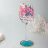 Lilly Pulitzer Trippin' and Sippin' Hand Painted Wine Glass