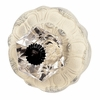 Lily Pad Crystal Knob with Ivory Base