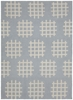 Lima Cross Spots Flatweave Rug in Gray