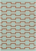 Lima Geo Blocks Flatweave Rug in Mint and Orange