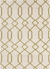 Lima Geo Lattice Flatweave Rug in Ivory and Lime