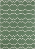 Lima Geo Waves Flatweave Rug in Green