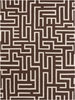 Lima Maze Flatweave Rug in Brown