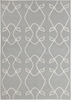 Lima Scroll Flatweave Rug in Gray
